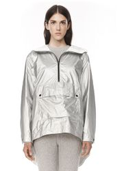 Alexander Wang Laminated Hooded Anorak - Lyst