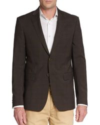 Etro Tonal Plaid Wool Sportcoat - Lyst
