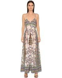 Candy stripe maxi dress