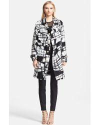 Versace Print Oversize Coat - Lyst