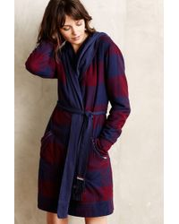 Anthropologie Flannel Sherpa Robe - Lyst