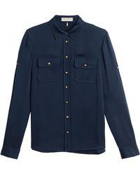 Emilio Pucci Stretch Silk Shirt - Lyst