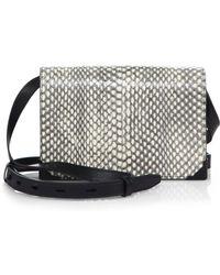 Alexander Wang Prisma Leather & Python Envelope Crossbody Bag/Matte Black - Lyst