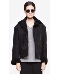 Rag & Bone Black Shearliing Jacket - Lyst