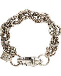 Goti Silver Joined Chain Bracelet - Lyst