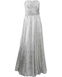 Michael Kors Strapless Corset Gown - Lyst