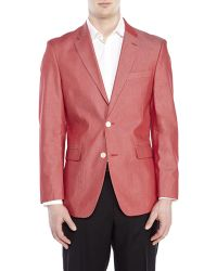 Tommy Hilfiger Red Two-Button Woven Sport Coat - Lyst
