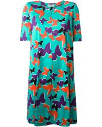 Yves Saint Laurent Vintage Butterfly Print Tunic Dress - Lyst