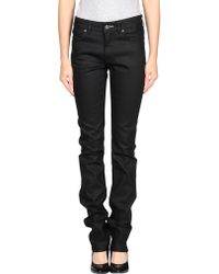 Acne Studios Black Denim Pants - Lyst