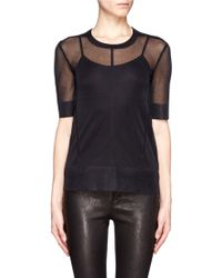 J Brand Sheer Knit Top - Lyst