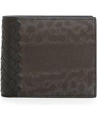 Bottega Veneta Karung Watersnake Bi-Fold Wallet - Lyst