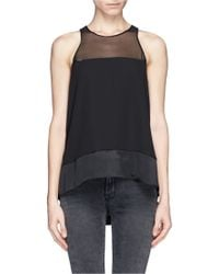 Elizabeth And James Sheer Silk Tank Top - Lyst