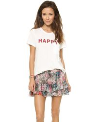Textile Elizabeth and James | Happy Bowery Tee - Grey | Lyst