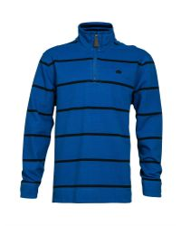 Raging Bull Stripe Quarter Zip Neck Hoodie - Lyst