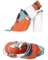 Kenzo Orange Sandals - Lyst