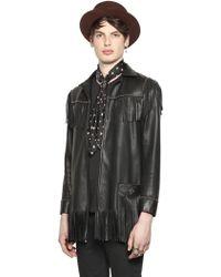 HTC Hollywood Trading Company - Fringed Light Nappa Leather Jacket - Lyst