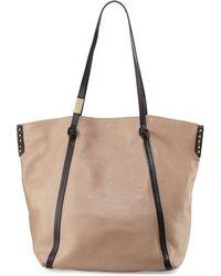 Foley + Corinna Contrast-Trim Leather Tote Bag - Lyst