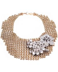Lulu Frost Double Mesh Necklace gold - Lyst