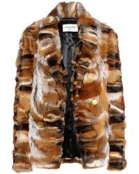 Saint Laurent Fox Fur Jacket - Lyst