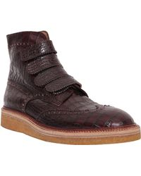 Weber Hodel Feder Brogue Leather Ankle Boots - Lyst
