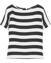 Theory Pachana Striped Woven Top - Lyst