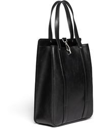 Maison Martin Margiela Push Clasp Leather Tote - Lyst