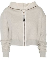 Enza Costa Cottonblend Hooded Top - Lyst
