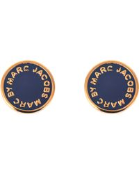 Marc By Marc Jacobs - Logo Disc-o Enamel Logo Disc Studs Earrings - Lyst