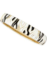 Sequin - Medium Zebra Enamel Bangle - Lyst