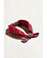 Urban Renewal Recycled Flannel Knot Headband