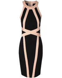 Jane Norman Halter Neck Bandage Dress - Lyst