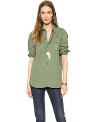 Madewell Heritage Cargo Shirt  Surplus Green - Lyst