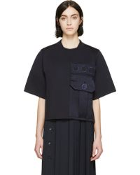 Marc Jacobs Navy Oversized Pocket Sweatshirt - Lyst