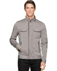Calvin Klein Pinstripe Bomber Jacket - Lyst