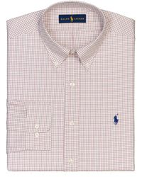 Polo Ralph Lauren Regular Fit Tattersall Dress Shirt - Lyst