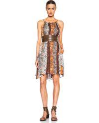 Isabel Marant Abilay Colorblock Print Dress - Lyst