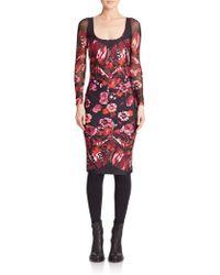 Fuzzi | Printed Bodycon Dress | Lyst