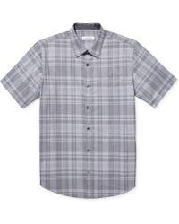 Calvin Klein End-on-end Plaid Shirt - Lyst