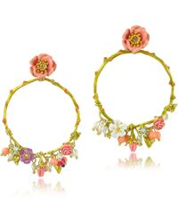 Les Nereides - Love Garden Large Hoop Earrings - Lyst