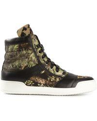 Balmain Hitop Sneakers - Lyst