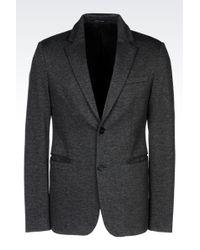 Emporio Armani Jersey Jacket - Lyst