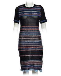 Yakshi Malhotra - Black Woven Cotton Fringe Dress - Lyst