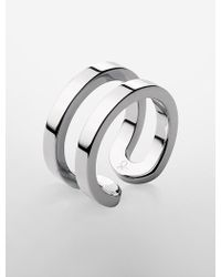 Calvin Klein - Platinum Return Ring - Lyst