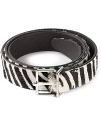 DSquared2 Zebra Print Belt - Lyst