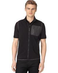 Calvin Klein Mix Media Pique Fleece Vest - Lyst