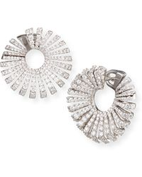 Miseno - Ventaglio 18k White Gold Round Diamond Earrings - Lyst