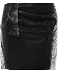 Isabel Marant Boden Leather Mini Skirt black - Lyst