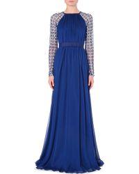 Temperley London Lattice Embellished Satin Dress - Lyst