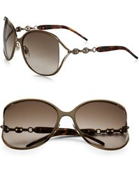Gucci | Marina Chain 60mm Round Sunglasses | Lyst