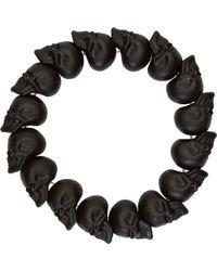 Alexander McQueen Black Skull Bead Bracelet - Lyst